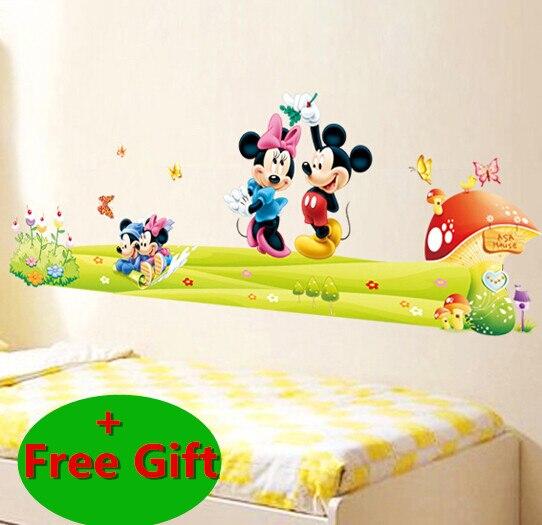 Cartoon Mickey Mouse Minnie Nursery Room Wall Sticker Home ...
