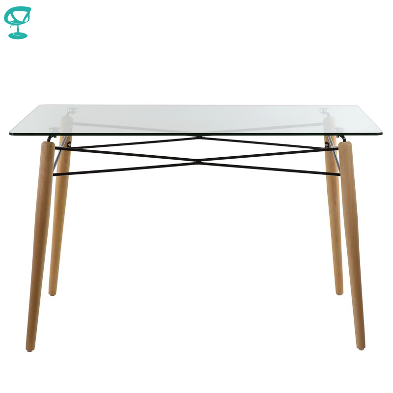 95248 Barneo T-110 Interior Dinner Table Bar Table Kitchen Furniture Dining Table Glass Transparent Free Shipping In Russia