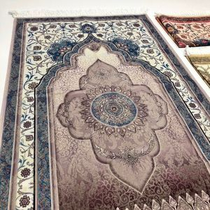 Image 2 - האסלאמי תפילת שטיח שטיח תפילה מוסלמי JaNamaz סאלאט Sajadah Seccade עיד אל adha