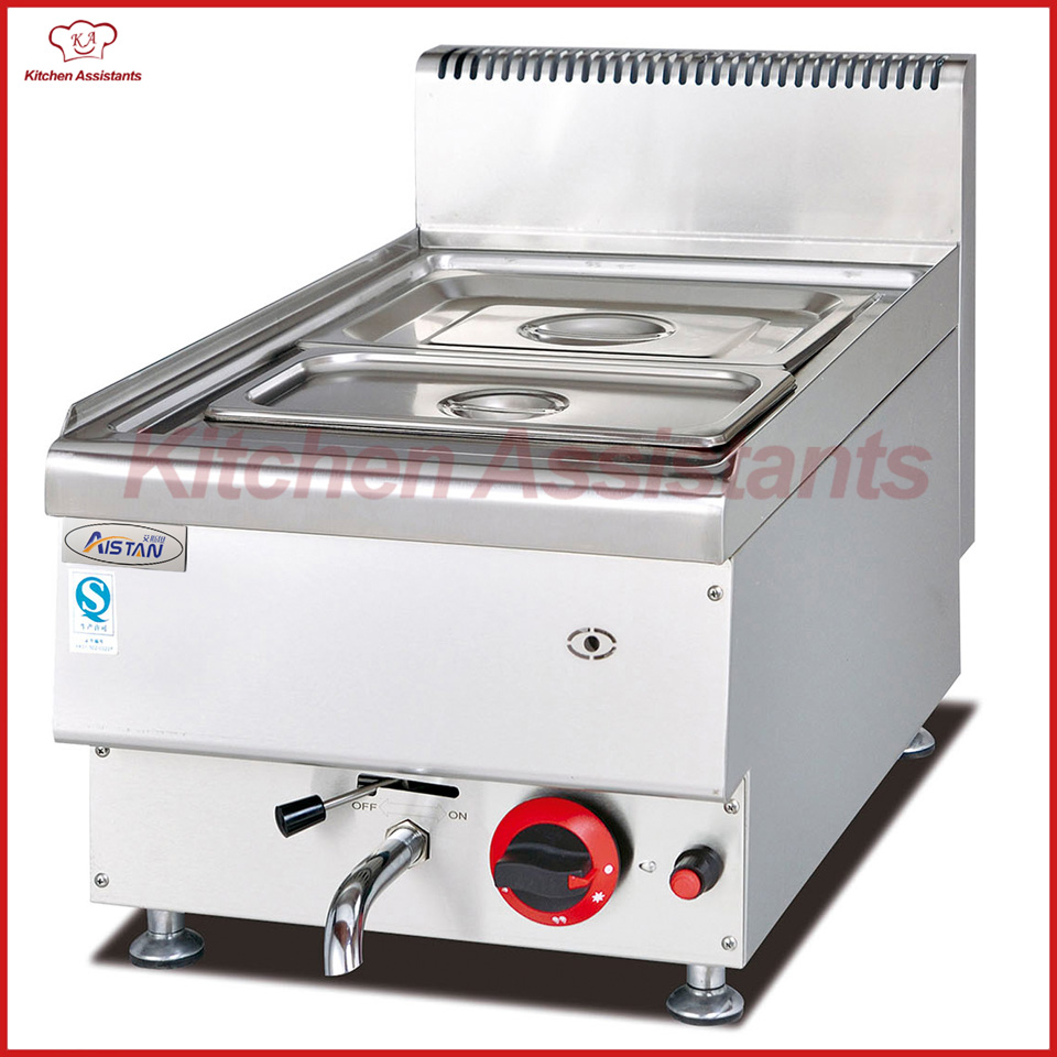 GH544 Gas Bain Marie with 2 pans of catering equipment gh534 counter top commercial vertical gas bain marie of catering equipment