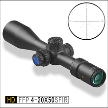 Discovery FFP Tactical Mil-Mil Rifle Scope HD 4-20x50SFIR 1/10 Adjustments First Focal Reticle with extended sunshade