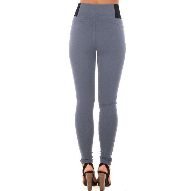 High Elastic Waist Casual Strech Skinny Basic Pant 5