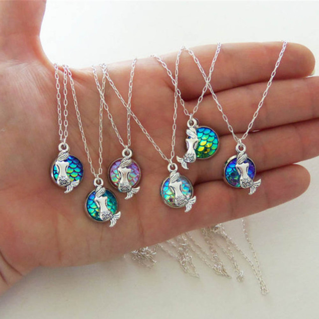 Fashion Mermaid Necklaces For Personalized Birthday Gifts