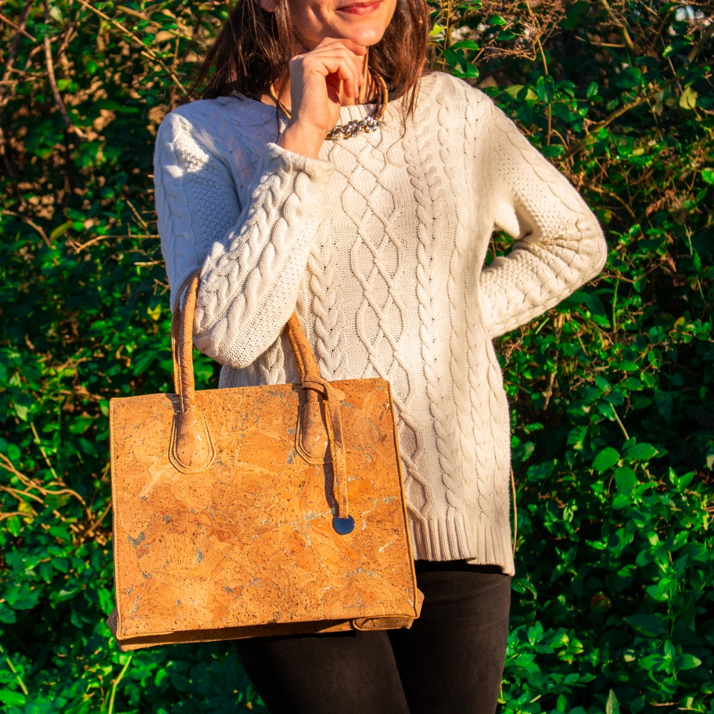 Cork bags cork handbag for women natural cork with Gold color handmade Original fashion handbag BAG