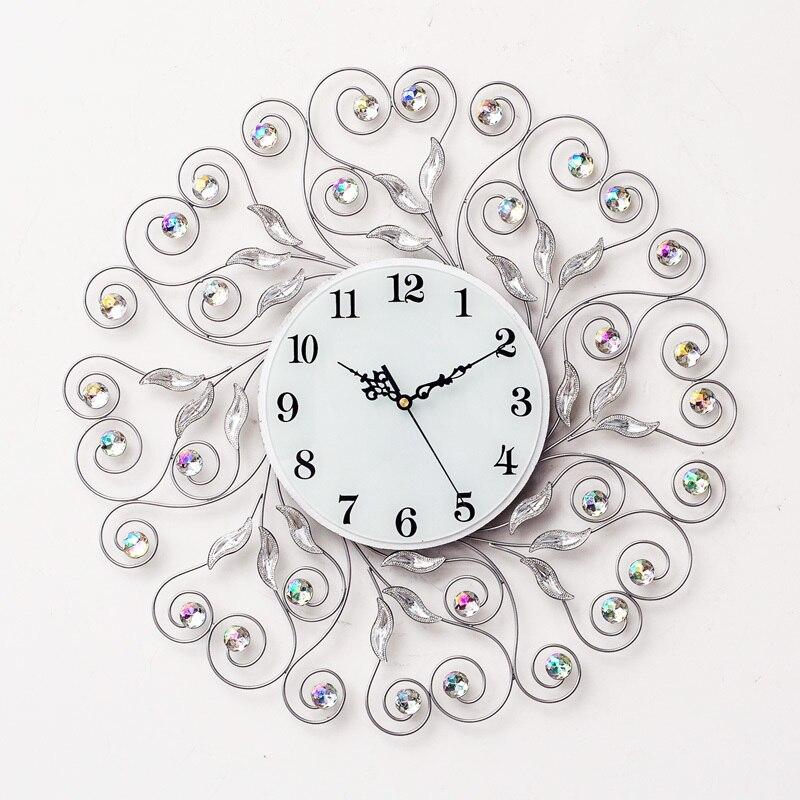 Grand Reloj Pared Horloge Murale Grande Taille Salon Décoration Saat Klok Duvar Saati Relogio De Parede Mur Numérique Horloge