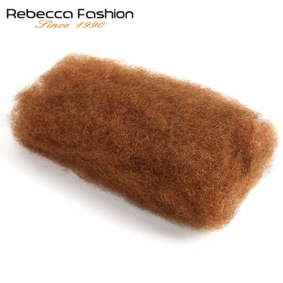 Rebecca Monogolian Remy афро кудрявые объемные человеческие волосы для плетения 1 пучок 50 г/шт. натуральный цвет #2 #4 #30 # 99j косы волосы