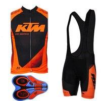 2018 KTM Ciclismo Jersey uomo estate dei vestiti della bicicletta Mountain bike gilet senza maniche salopette completo mtb usura ropa ciclismo
