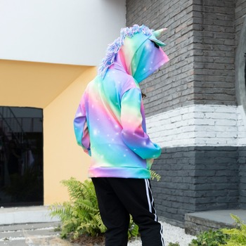 Rainbow Unicorn Hooded Jacket