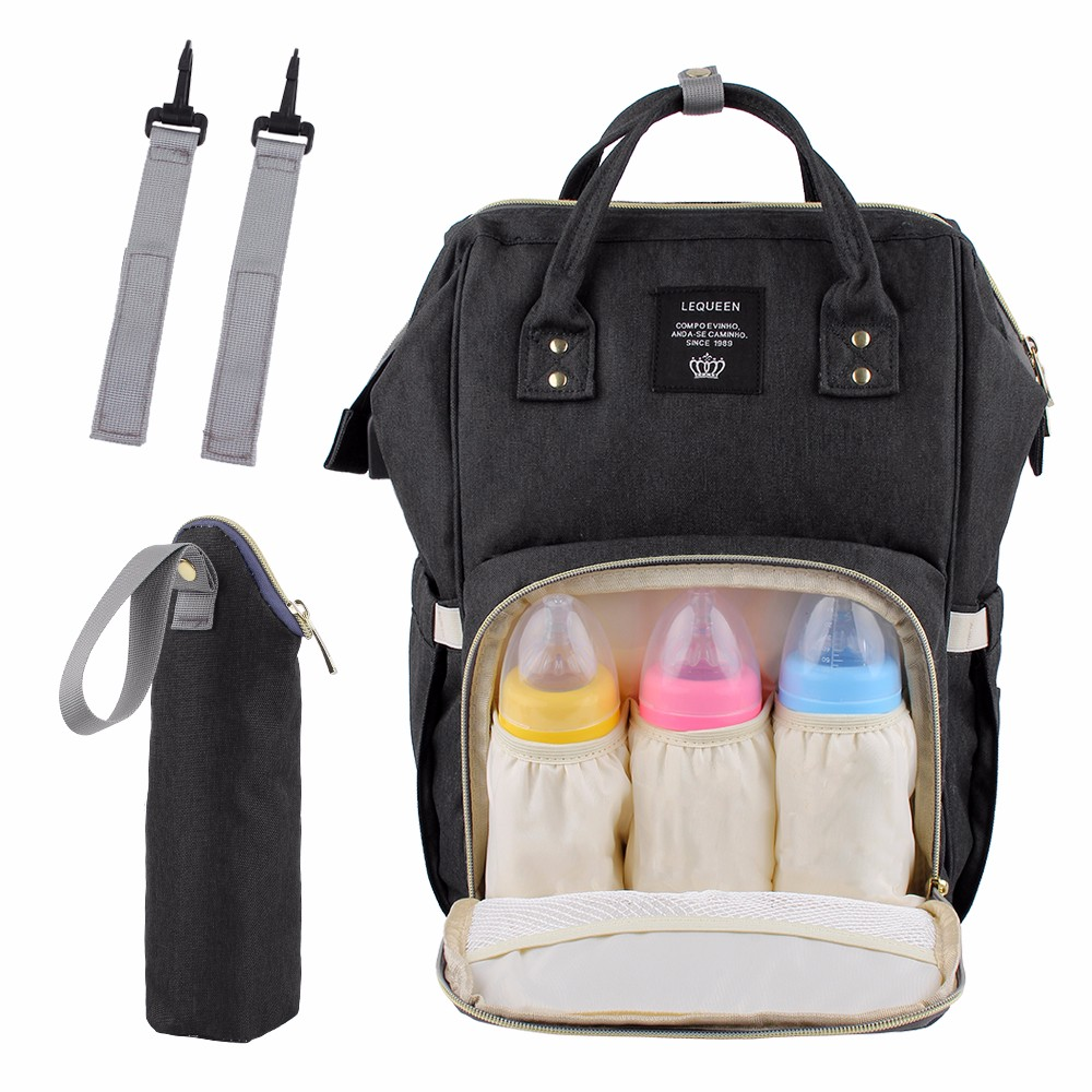 Lequeen USB Interface Mummy Bag Backpack Large Capacity WaterProof Baby Diaper Bag And Nipple Bottle Set Travel Nursing Bag !Lequeen USB Interface Mummy Bag Backpack Large Capacity WaterProof Baby Diaper Bag And Nipple Bottle Set Travel Nursing Bag !