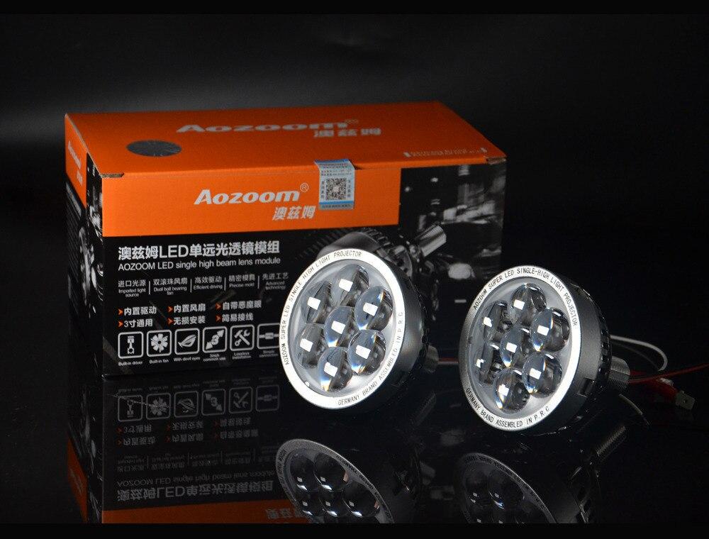 AOZOOM Haute qualité LED unique haute faisceau lentille avec diable yeux, LED projecteur avec diable yeux!