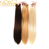 Doreen 100 Human Hair Brazilian Straight Hair Wefts 1B 2 4 27 60 613 Blonde Remy