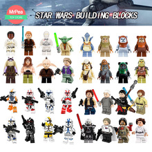 Star Wars Building Blocks Toys Совместимо с LegoINGly Luke Leia Han Solo Anakin Darth Vader Yoda Jar Jar Legoings цифры zk30
