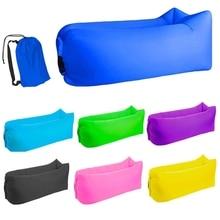 Inflatable Sofa Banana Light sleeping bag Waterproof air camping Sleeping sofas Adult Beach Lounge Chair Fast Folding