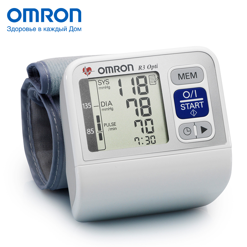 Omron R3 Opti (HEM-6200-RU) Blood pressure monitor Home Health care Heart beat meter machine Tonometer Automatic Digital omron bf212 hbf 212 ew body fat monitor home health care body fat monitors digital analyzer fat meter detection