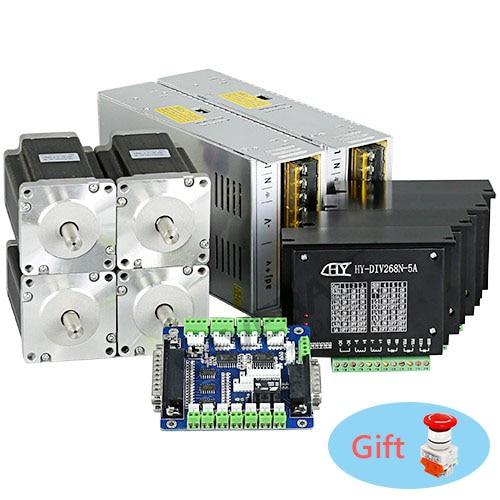 Revolutionary 5A TB6600HG Stepper Controller CNC Kit 4 Axis Nema23 2.5Nm Motor