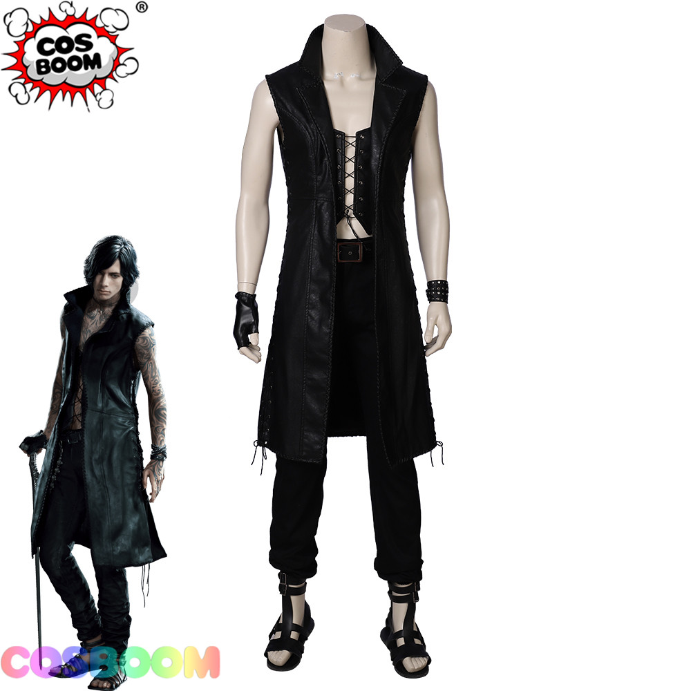 COSBOOM DMC 5 V Mysterious Man Cosplay Costume Halloween Carnival Party Game Costume Devil May Cry 5  V Cosplay Costume