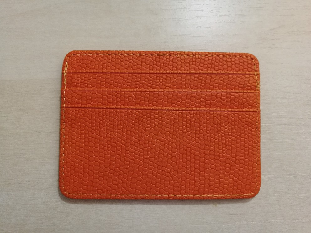 Hot unisex Bank Credit ID Card Holder Female Leather Card Package Coin Purse Business card wallet case porte carte tarjetero photo review