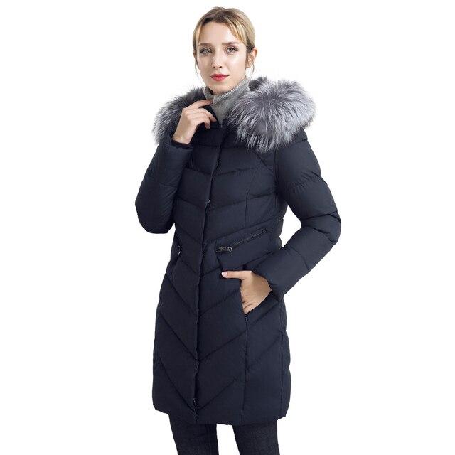 ICEbear Куртка зимняя женская  со мехом из лисицы