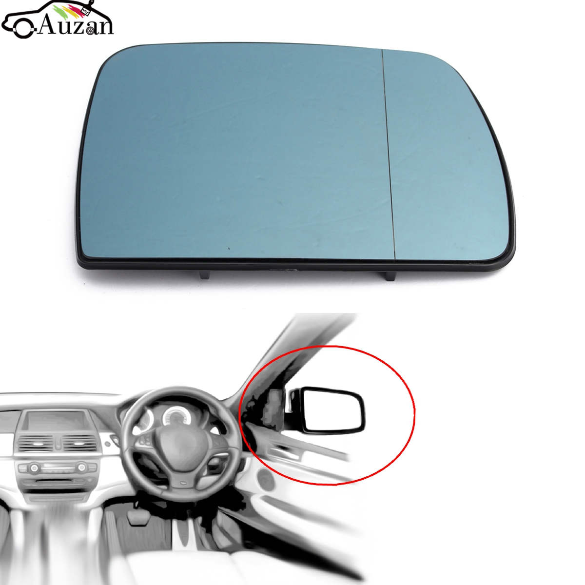 Left + Right 2000-2006 New BMW X5 E53 Mirror Glass Aspherical Heated Set