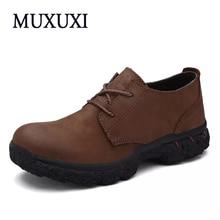 2017 Британские Классические Ботинки Мужчины Кожаные Оксфорды Обувь Повседневная Меховые Сапоги для Мужчин Теплые Ботинки Bootas