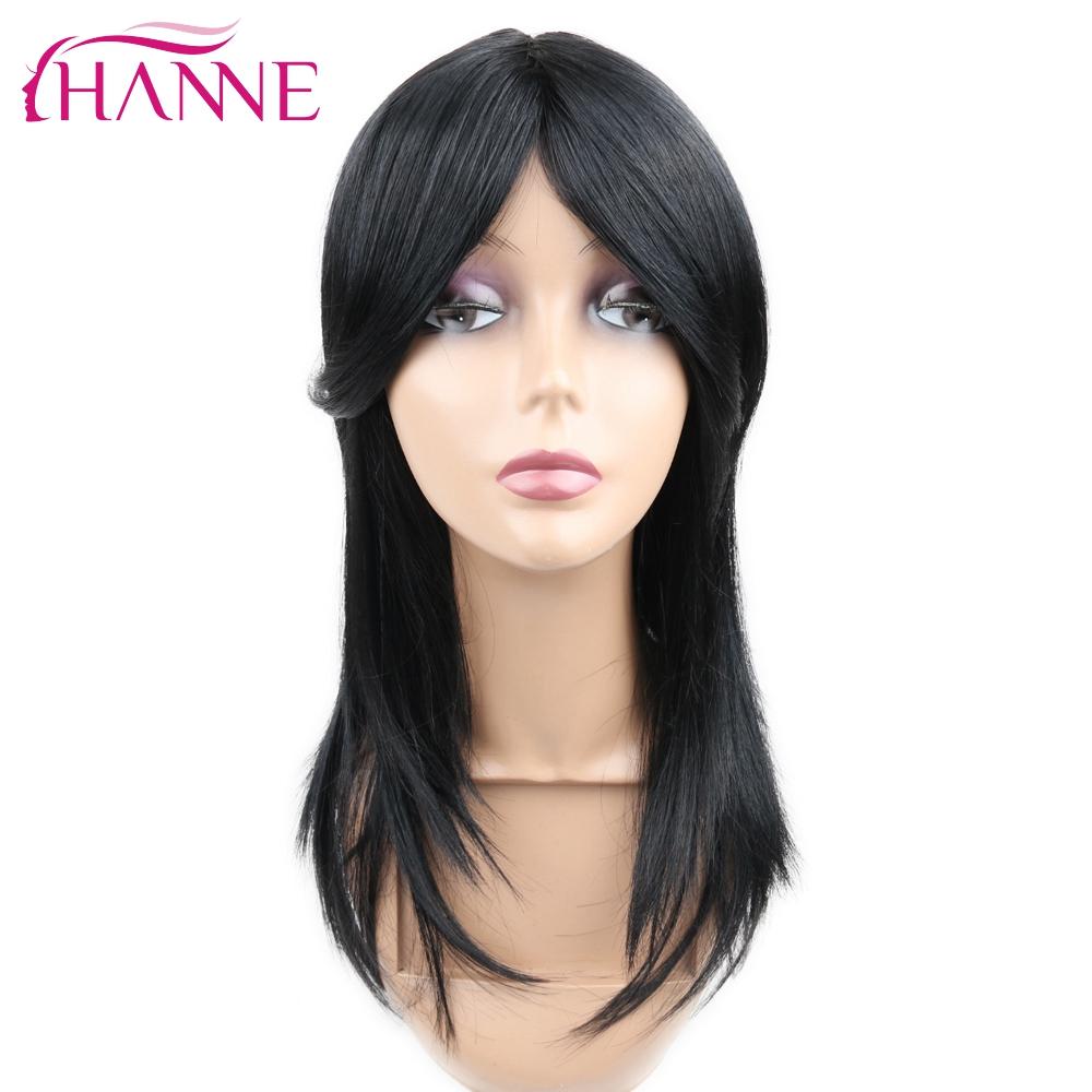 hanne negro pelucas de pelo sinttico para las mujeres negras de 18 cortes de pelo