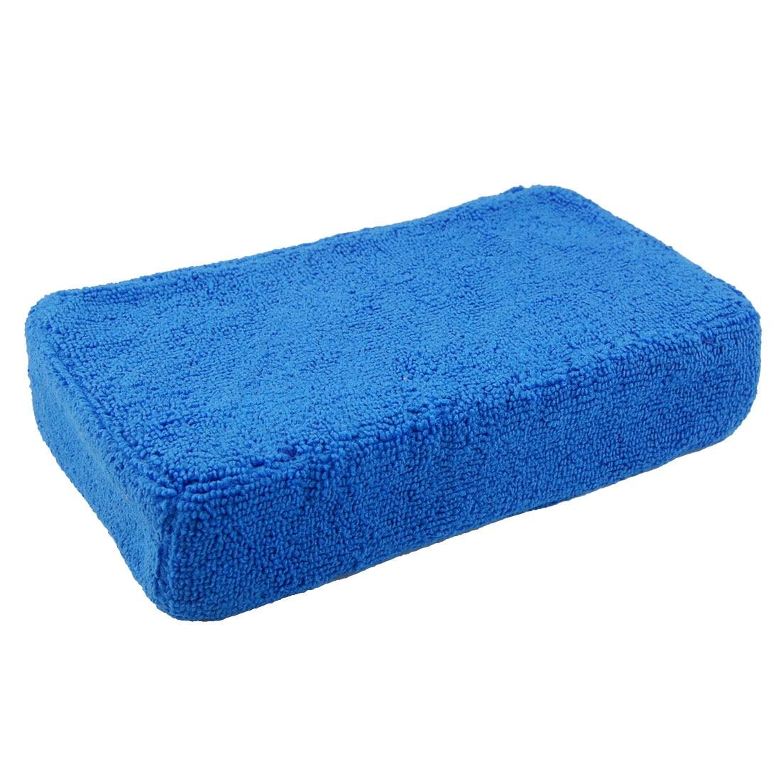 UXCELL Car Window Door Rectangular Sponge Cleaning Pad Cleaner Tool Blue