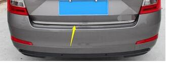 FIT FOR 2014-2017 for skoda Octavia A7 CHROME REAR BOOT DOOR TRUNK COVER TRIM TAILGATE GARNISH MOLDING STRIP Accessories kit thule skoda octavia a7 hatchback 13