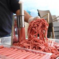 Commercial Kitchen Equipment Hotdog Wiener Cheese Sausage Hot Dog Julienne Maker Cutter Slicer Machine