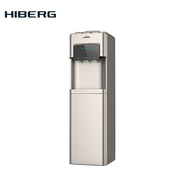 Диспенсер для воды HIBERG UFK-603G с верхней загрузкой бутыли, шкаф 15 л, компрессорное охлаждение до 5-10 С