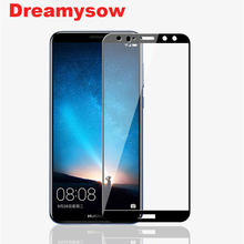 Full cover Tempered Glass For Huawei Mate 10 lite Y7 Pro Y7 Prime 2018 Screen Protector Nova2i Honor9i 7C Coque Protective Film(China)