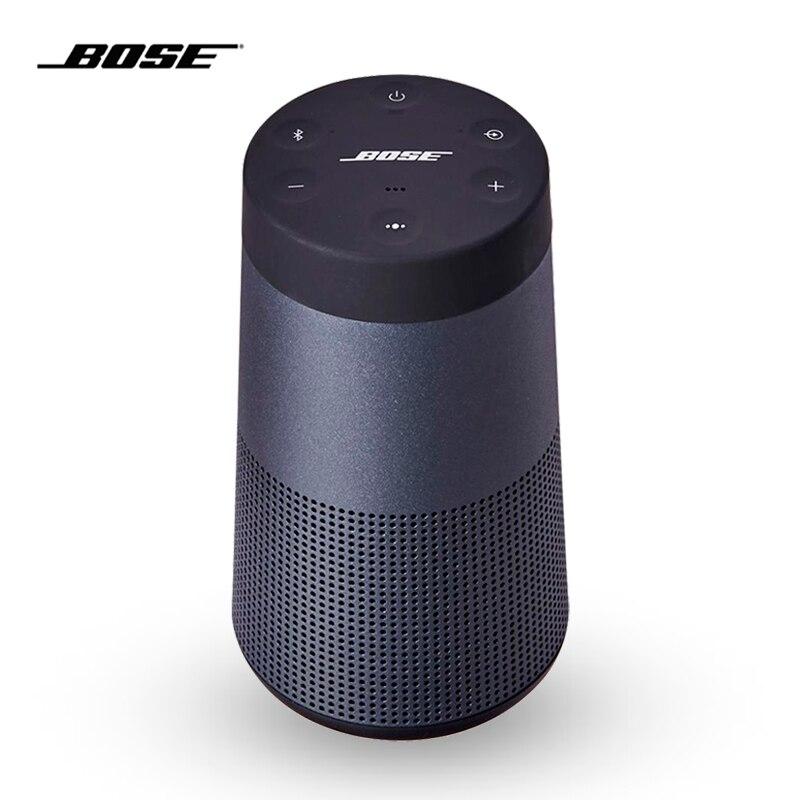 Bose Bluetooth SoundLink Revolve Portable Hifi étanche IPX4 haut-parleurs sans fil 3D son stéréo haut-parleur pour fête douche noir