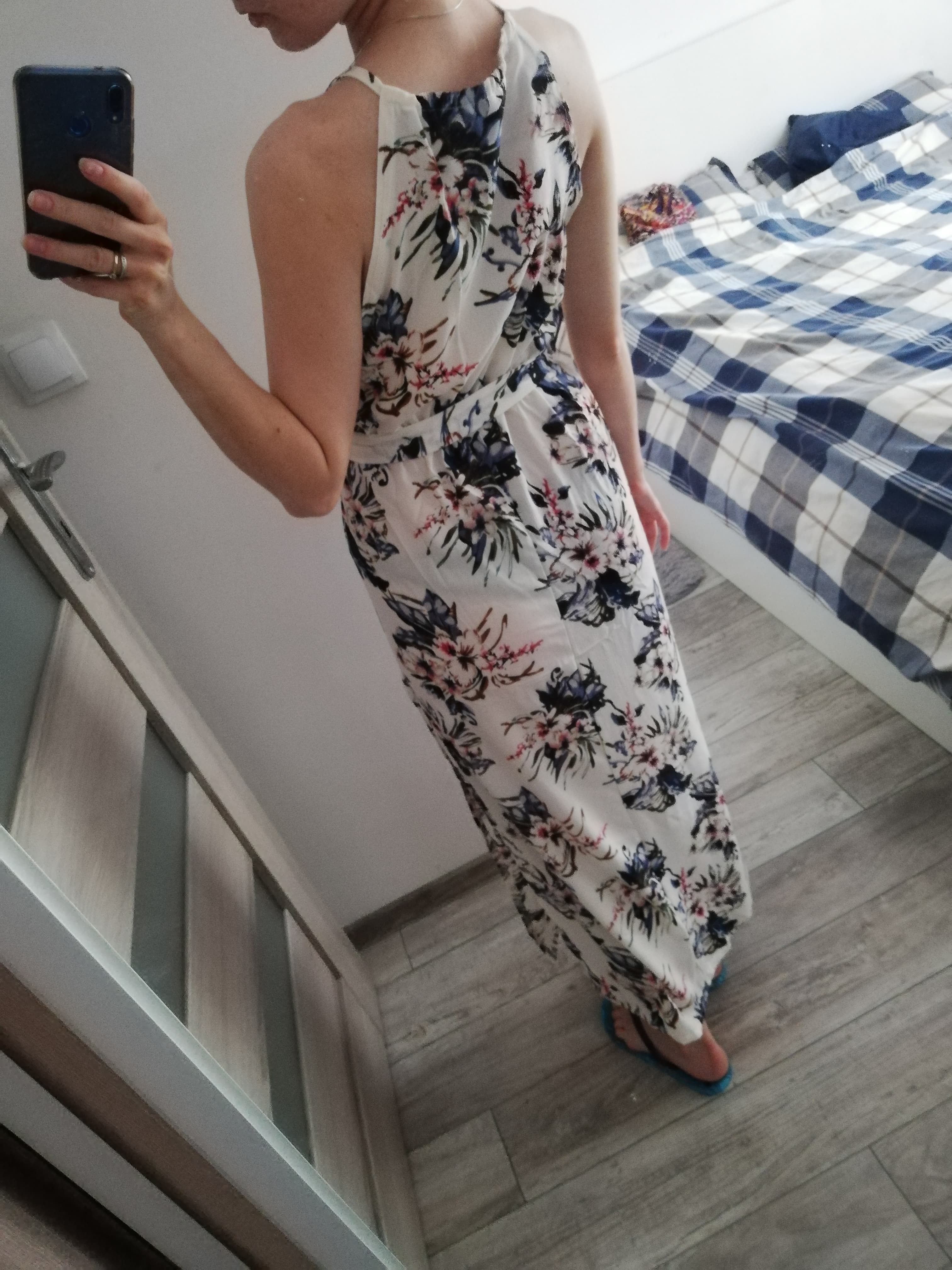 Boho Floral Print Straps Long Dress Women Sexy Backless Summer Beach Maxi Dresses Womens Casual Vestidos Femme photo review