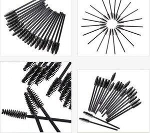 Image 5 - Profesjonalne 500 sztuk pędzle do rzęs pędzel do brwi jednorazowy tusz do rzęs różdżka może być wygięty Mascara Brush elastyczny miękki narzędzia do makijazu