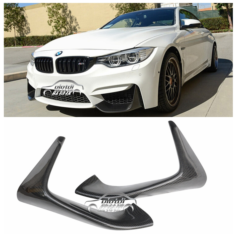 P Style Carbon Fiber Front Bumper Chin Lip Spoiler for BMW F80 M3 F82 F83 M4 2014 up Original M Bumper car accessories styling