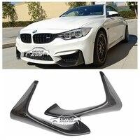 P Style Carbon Fiber Front Bumper Chin Lip Spoiler for BMW F80 M3 F82 F83 M4 2014 up Original M Bumper car accessories styling