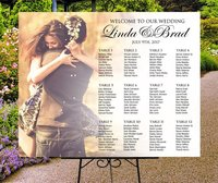 Welcome To Our Wedding,Rustic Custom Photo Seating Chart Plan,Wedding Seating Table Assignment Wooden Personalized Guests List