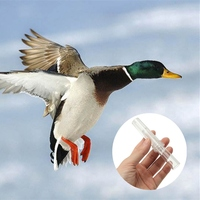 Transparent Duck Pheasant Hunting Small Game Call Whistle Decoy Shooting Decoy Duck Whistle Sound Hunter Lure