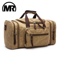 MARKROYAL لينة قماش الرجال حقائب سفر تحمل على الأمتعة أكياس الرجال حقيبة من القماش الخشن حقيبة تسوق سفر حقيبة عطلة الأسبوع عالية قدرة دروبشيبينغ