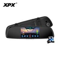 XPX Автомобильный видеорегистратор 3 в 1 G616 STR регистраторы Full HD камера заднего вида GPS детектор радаров dvr противорадиолокационная заднего ви