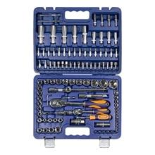 Набор ручного инструмента Helfer HF000012 (108 предметов, 18 головок 1/4 дюйма, 25 головок 1/2 дюйма, 17 бит 5/16 дюйма, кейс)