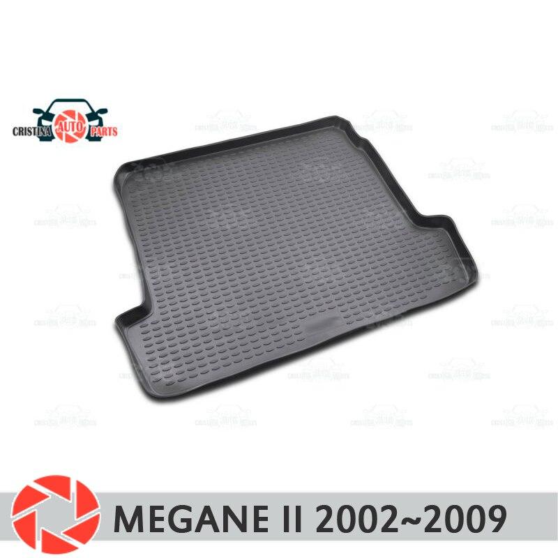 лучшая цена Trunk mat for Renault Megane 2 2002~2009 trunk floor rugs non slip polyurethane dirt protection interior trunk car styling