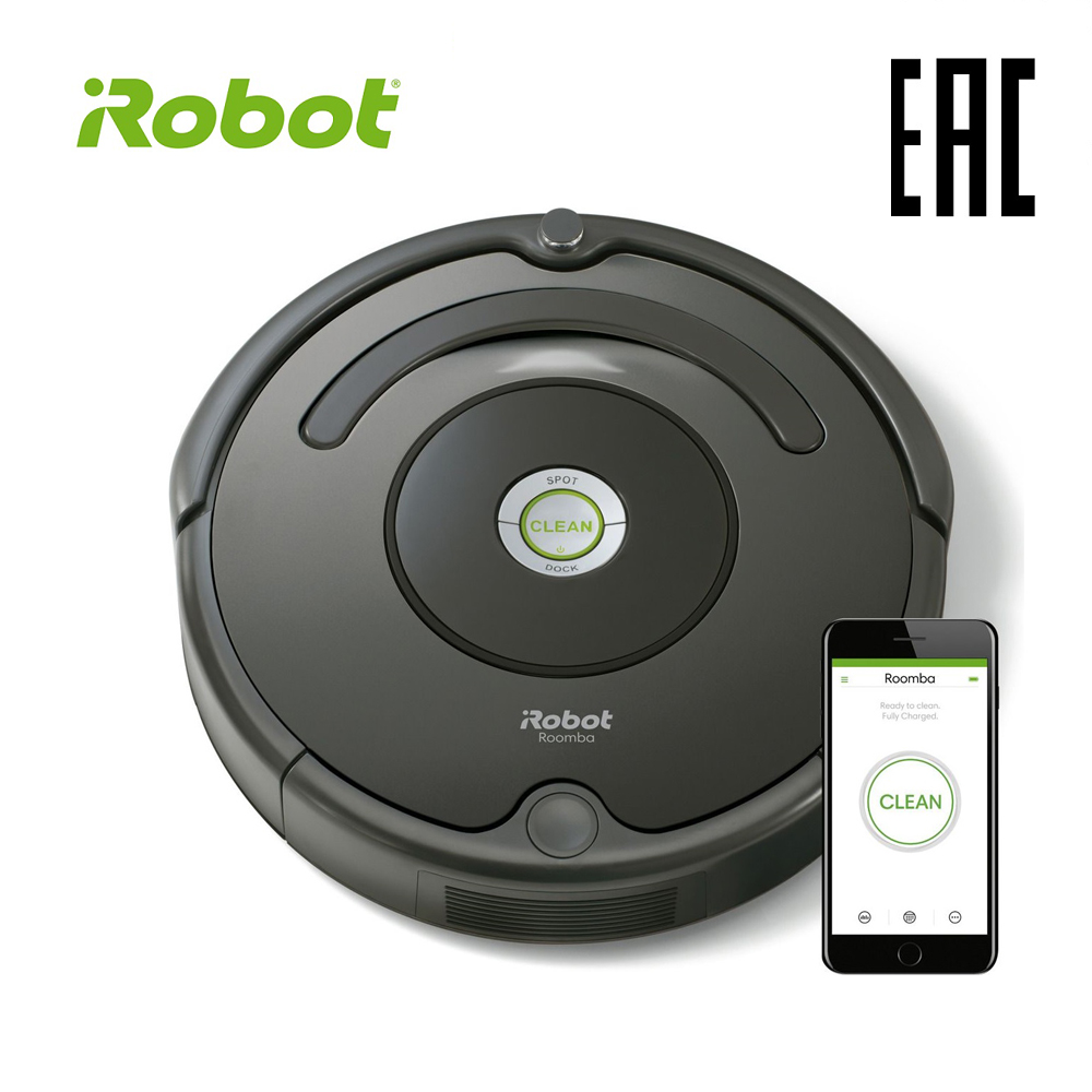 цена на iRobot Roomba 676 High Suction Electric Automatic Robot Vacuum Cleaner sweeping dust sterilize APP floor cleaning home household