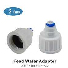 Feed Water Connection Fitting 3/4 bsp to 1/4 Pushfit Connector for Fridge Freezer water filter plumbing or systems