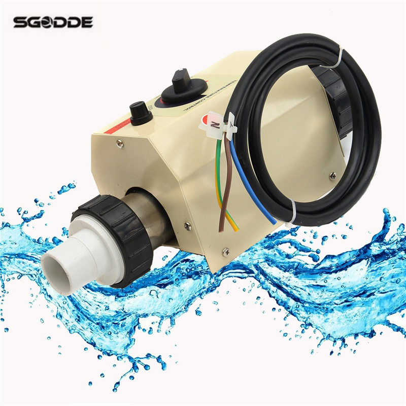 Pool Heat pump 2KW 220V Electric Swimming Pool and SPA Bath Heating Tub Water Heater Thermostat 220V Swimming Pool Accessories presairtrol tinytrol spa hot tub bath pump blower air switch