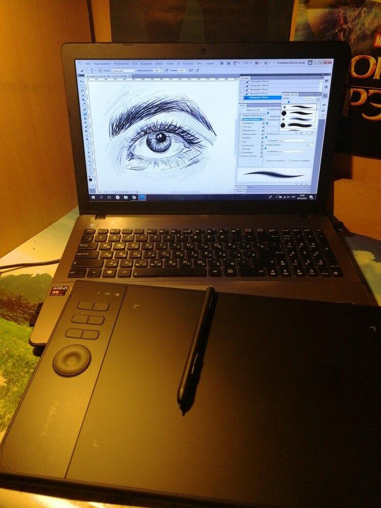 XP-ручка Star06 Беспроводной 2.4 г Графика рисунок Планшеты/картина доска с 8192 уровней Батарея-Бесплатная Стилусы opencanvas выступает бесплатно