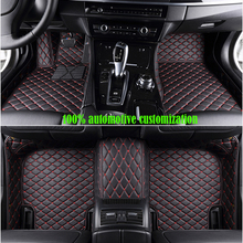 custom made Car floor mats for kia rio 3 4 ceed sportage 2018 soul sorento spectra car accessories