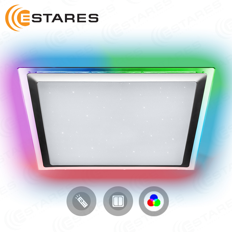 Estares Controlled LED Ceiling Light ARION 60 W RGB S-542-SHINY-220V-IP44 цена