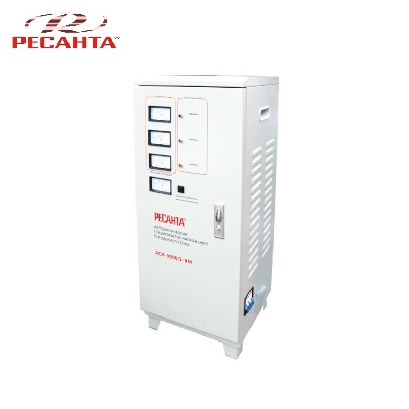 Three phase voltage stabilizer RESANTA ASN 9000/3 Triphase Voltage regulator Monophase Mains stabilizer Surge protect Power stab single phase voltage stabilizer resanta asn 500 1 em voltage regulator monophase mains stabilizer surge protect power stab