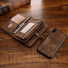Caso de couro de luxo para samsung s10 s10e s9 s8 note9 s10 plus s20 nota 20 10 caso da aleta capa carteira ímã negócio telefone caso
