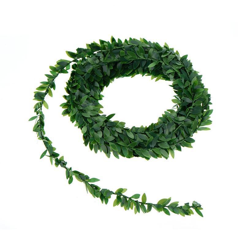 7.5m Artificial Pvc Ivy Garland Foliage Green Leaves Simulated Vine For Wedding Party Decoration Ceremony DIY Headbands